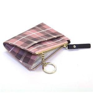 Kate Spade(ケイトスペード) PWRU5132 654 Pink Bonnet Multi チェック柄 キーリング付 コインケース Farimont Square Cori h03