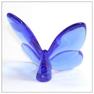 Baccarat(バカラ) PAPILLON (パピヨン・ラッキーバタフライ) お薦めギフト 気品のある躍動感 幸せを運ぶモーチーフ (ブルー) 2102546 h02