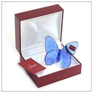 Baccarat(バカラ) PAPILLON (パピヨン・ラッキーバタフライ) お薦めギフト 気品のある躍動感 幸せを運ぶモーチーフ (ブルー) 2102546 h03