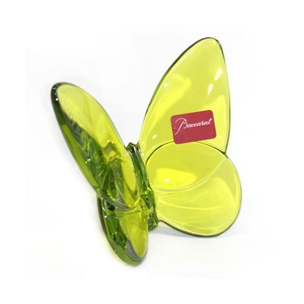 Baccarat(バカラ) PAPILLON (パピヨン・ラッキーバタフライ) お薦めギフト 気品のある躍動感 幸せを運ぶモーチーフ (グリーン) 2102547f00
