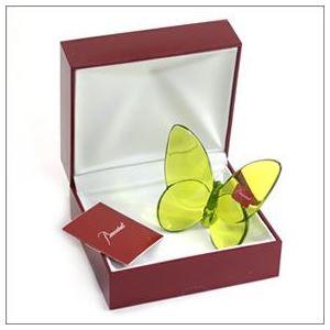 Baccarat(バカラ) PAPILLON (パピヨン・ラッキーバタフライ) お薦めギフト 気品のある躍動感 幸せを運ぶモーチーフ (グリーン) 2102547 h03