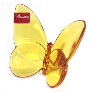 Baccarat(バカラ) PAPILLON (パピヨン・ラッキーバタフライ) お薦めギフト 気品のある躍動感 幸せを運ぶモーチーフ (アンバー) 2102549 h01