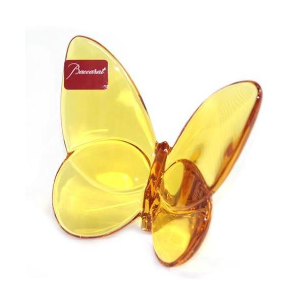 Baccarat(バカラ) PAPILLON (パピヨン・ラッキーバタフライ) お薦めギフト 気品のある躍動感 幸せを運ぶモーチーフ (アンバー) 2102549f00