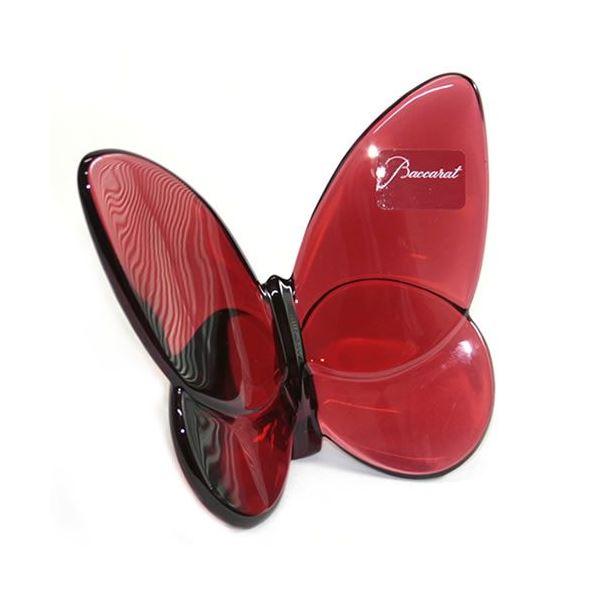 Baccarat(バカラ) PAPILLON (パピヨン・ラッキーバタフライ) お薦めギフト 気品のある躍動感 幸せを運ぶモーチーフ (ルビーレッド) 2104322f00