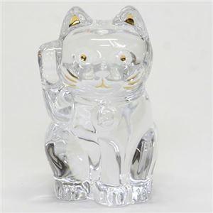 Baccarat(バカラ) LUCKY CAT 表情が可愛い 日本生まれのラッキーモチーフ 「招き猫」(クリア) 2607786 h01
