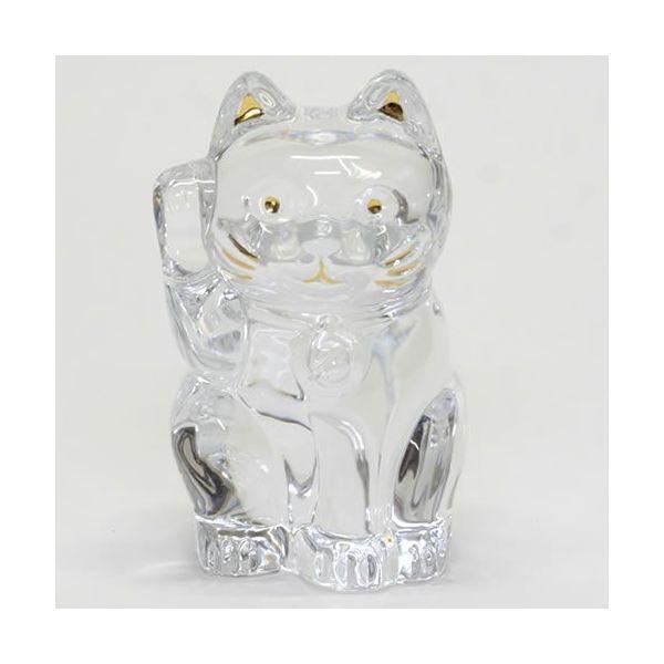 Baccarat(バカラ) LUCKY CAT 表情が可愛い 日本生まれのラッキーモチーフ 「招き猫」(クリア) 2607786f00