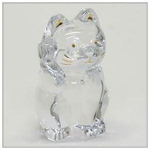 Baccarat(バカラ) LUCKY CAT 表情が可愛い 日本生まれのラッキーモチーフ 「招き猫」(クリア) 2607786