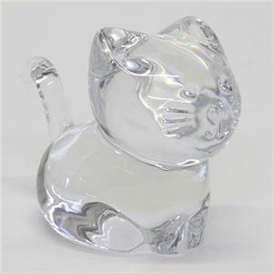 Baccarat(バカラ) MINIMALS(ミニマルズキャット)猫モチーフが可愛いくてキュート コロンとしたフォルムのオーナメント 2610097 h01