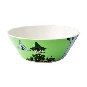 Arabia(アラビア) AR100097 Moomin Bowl 15cm Snufkin Green 「スナフキン」 ムーミン ボウル ディーププレート皿 ≪北欧食器≫ - 拡大画像