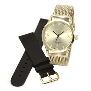 TRIWA(トリワ) LAST114.ME021313 SORT of BLACK GOLD (ソート オブ ブラック ゴールド ゴールド メッシュ) メンズ 腕時計(女子にも人気) h01