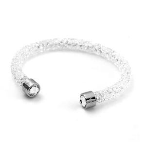 SWAROVSKI(スワロフスキー) 5255899 Crystaldust White クリスタルロック カフ バングル ブレスレット Sサイズ h01