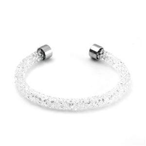SWAROVSKI(スワロフスキー) 5255899 Crystaldust White クリスタルロック カフ バングル ブレスレット Sサイズ h02
