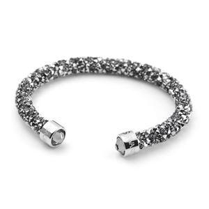 SWAROVSKI(スワロフスキー) 5255912 Crystaldust Gray クリスタルロック カフ バングル ブレスレット Sサイズ h01