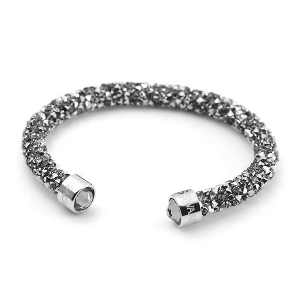 SWAROVSKI(スワロフスキー) 5255912 Crystaldust Gray クリスタルロック カフ バングル ブレスレット Sサイズf00