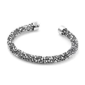 SWAROVSKI(スワロフスキー) 5255912 Crystaldust Gray クリスタルロック カフ バングル ブレスレット Sサイズ h02