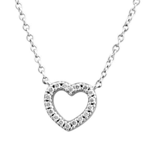 Tiffany&CO(ティファニー) 33474563 メトロ ハート ダイアモンド ペンダント ミニ 0.04ct 16in 18KWG ネックレスf00