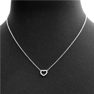 Tiffany&CO(ティファニー) 33474563 メトロ ハート ダイアモンド ペンダント ミニ 0.04ct 16in 18KWG ネックレス h03