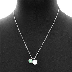 Tiffany&CO(ティファニー) 36517204 RTT リターン トゥ ティファニー ダブル ラウンド ペンダント ミニ SS/エナメルフィニッシュ 41cm~46cm ネックレス