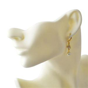 Kate Spade(ケイトスペード) WBRUC972-143 Cream Multi DISCO PANSY drop leverback earrings パンジーモチーフ&パール ドロップ ピアス h03