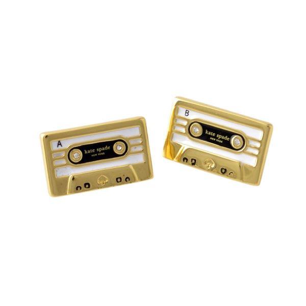 Kate Spade(ケイトスペード) WBRUD109-974 Multi JAZZ THINGS UP cassette studs カセットテープモチーフ スタッド ピアスf00
