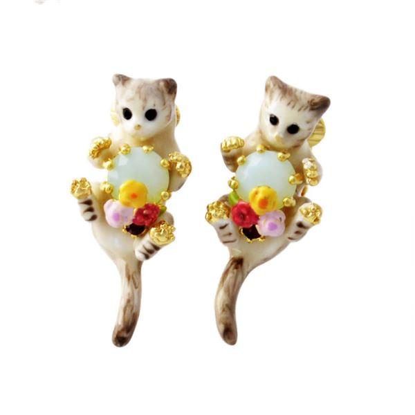 Les Nereides(レネレイド) AELA101C/1 ネコモチーフ 猫 キャット クリップ イヤリング LOVES ANIMALSf00