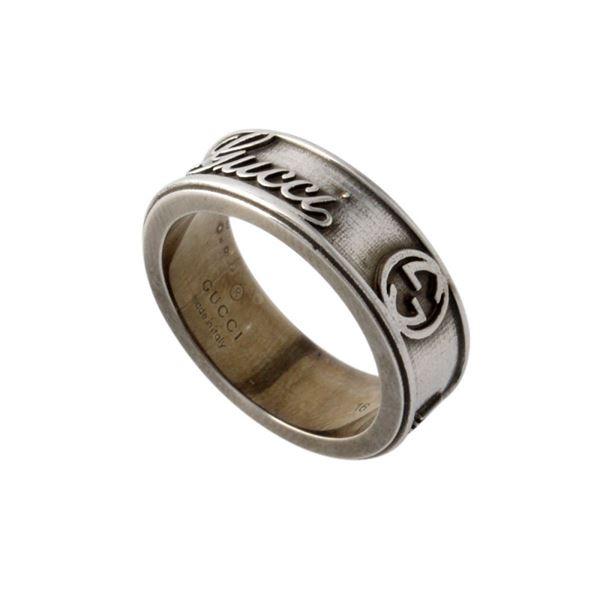 GUCCI(グッチ) 310441-J8400-8110 16号 GUCCI CRAFT LARGE RING ヴィンテージgucci エイジドパラジウム トレードマーク リング 指輪f00