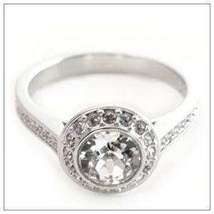 SWAROVSKI(スワロフスキー) Angelic エンジェリック クリスタル/クリスタル・パヴェ リング 指輪 サイズ50(日本サイズ9号) 1094776 h03