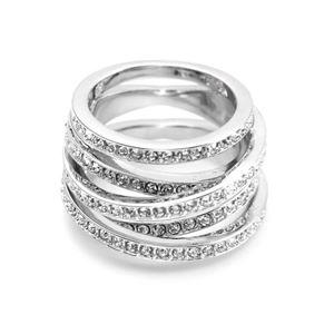 SWAROVSKI(スワロフスキー) 5184536 Spiral 4連 クリスタルパヴェ リング 指輪 サイズ50(日本サイズ9号) h01