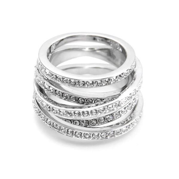 SWAROVSKI(スワロフスキー) 5184536 Spiral 4連 クリスタルパヴェ リング 指輪 サイズ50(日本サイズ9号)f00
