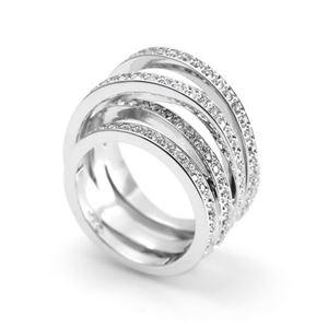 SWAROVSKI(スワロフスキー) 5184536 Spiral 4連 クリスタルパヴェ リング 指輪 サイズ50(日本サイズ9号) h02