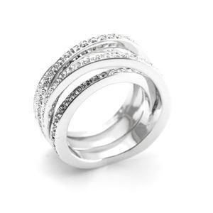 SWAROVSKI(スワロフスキー) 5184536 Spiral 4連 クリスタルパヴェ リング 指輪 サイズ50(日本サイズ9号) h03