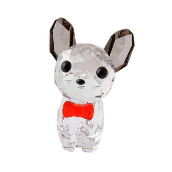SWAROVSKI(スワロフスキー) 5213639 Puppy - Bruno キュートな子犬シリーズ フレンチブルドック 「ブルーノ」 クリスタル フィギュア 置物f00