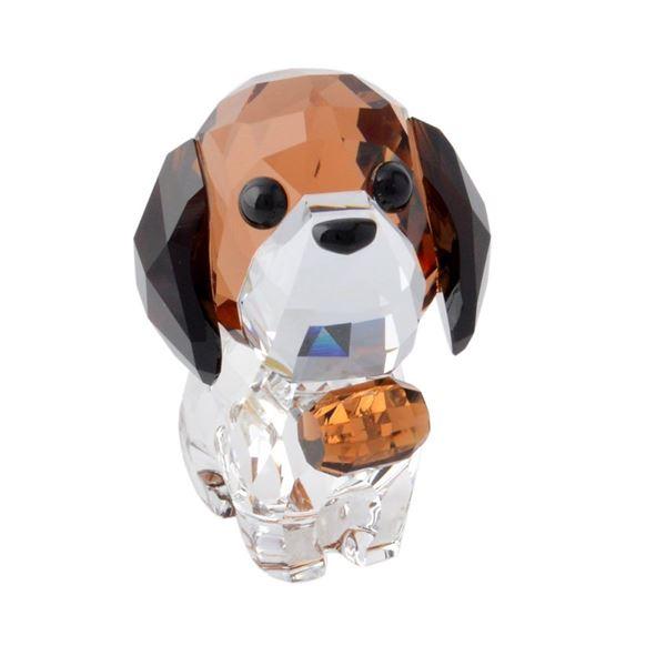 SWAROVSKI(スワロフスキー) 5213704 Puppy - Bernie キュートな子犬シリーズ セントバーナード 「バーニー」 クリスタル フィギュア 置物f00