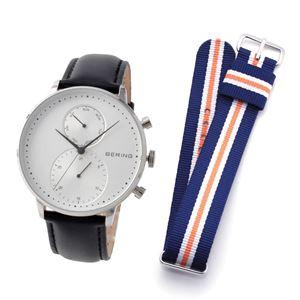 BERING(ベーリング) 14240-404 CLASSIC COLLECTION メンズ腕時計 替えストラップ(ナイロン)付き h01