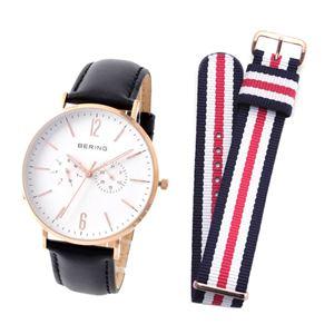 BERING(ベーリング) 14240-464 CLASSIC COLLECTION メンズ腕時計 替えストラップ(ナイロン)付き h01