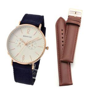 BERING(ベーリング) 14240-564 CLASSIC COLLECTION メンズ腕時計 替えストラップ(レザー)付き h01