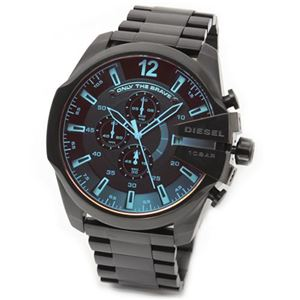 DIESEL(ディーゼル) メンズ 腕時計 人気のデカ系クロノグラフウオッチ 見る角度で色見が変化するホログラム・クリスタル。 DZ4318 h01