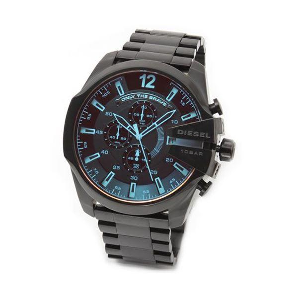 DIESEL(ディーゼル) メンズ 腕時計 人気のデカ系クロノグラフウオッチ 見る角度で色見が変化するホログラム・クリスタル。 DZ4318f00