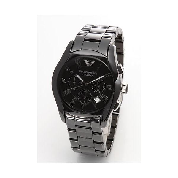 EMPORIO ARMANI(エンポリオアルマーニ) メンズ 腕時計 クロノグラフ セラミックブレス AR1400f00