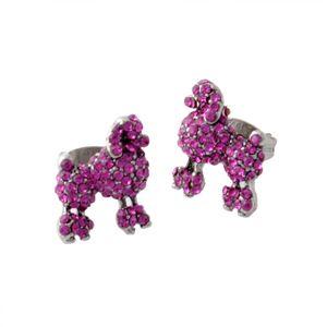 MARC JACOBS (マークジェイコブス) M0010474-650 Pink プードル パヴェ スタッド ピアス Charms Paradise Mini Poodle Studs h01