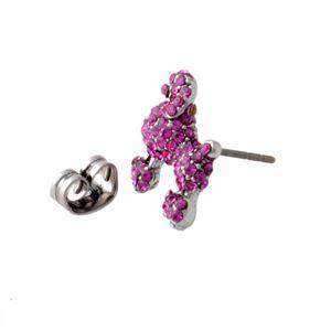 MARC JACOBS (マークジェイコブス) M0010474-650 Pink プードル パヴェ スタッド ピアス Charms Paradise Mini Poodle Studs h02