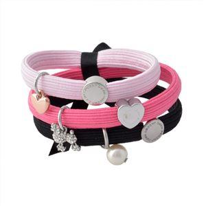 MARC JACOBS (マークジェイコブス) M0010698-651 Pink Multi クラスターポニー プードル&パールチャーム ヘアゴム3本セット ブレスレットにも♪ Poodle Pearl Cluster Ponys h01