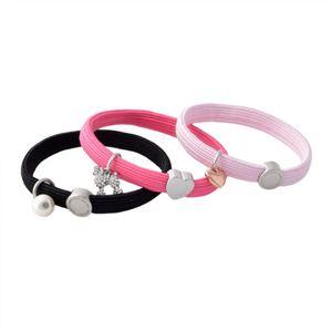 MARC JACOBS (マークジェイコブス) M0010698-651 Pink Multi クラスターポニー プードル&パールチャーム ヘアゴム3本セット ブレスレットにも♪ Poodle Pearl Cluster Ponys h02