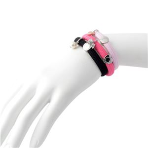 MARC JACOBS (マークジェイコブス) M0010698-651 Pink Multi クラスターポニー プードル&パールチャーム ヘアゴム3本セット ブレスレットにも♪ Poodle Pearl Cluster Ponys h03