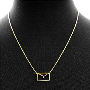 ALIITA (アリータ) CARITA BRILLANTE NECKLACE 9KYG×HWダイヤモンド カリタ レター 封筒モチーフ ネックレス ペンダント