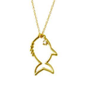 ALIITA (アリータ) PECECITO(FISH) NECKLACE 9KYG×HWダイヤモンド フィッシュ 魚モチーフ ネックレス ペンダント