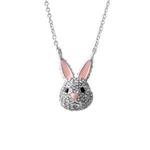Kate Spade (ケイトスペード) WBRUD585-911 clear/silver MAKE MAGIC rabbit mini pendant ウサギモチーフ クリスタルパヴェ ペンダント ネックレス h01