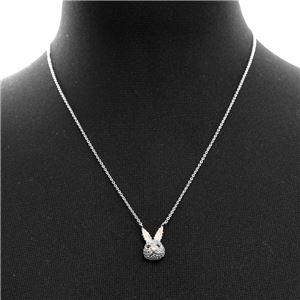 Kate Spade (ケイトスペード) WBRUD585-911 clear/silver MAKE MAGIC rabbit mini pendant ウサギモチーフ クリスタルパヴェ ペンダント ネックレス h03