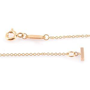 TIFFANY&CO (ティファニー) 35189432 Tiffany T スマイル ペンダント ミニ 18KRG ネックレス