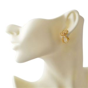Kate Spade (ケイトスペード) WBRUD465-921 Clear/Gold MIDNIGHT GARDEN drop earrings フラワーモチーフ クリスタル ドロップ ピアス h03
